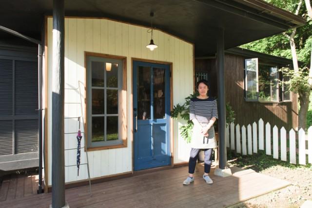 今年7月、大子町にオープンしたカフェ兼ゲストハウス「咲くカフェ」運営を手掛ける櫻山啓三郎さん。